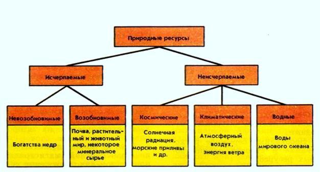 Ресурсы природных компонентов (минеральные, климатические, водные, растительные, земельные, почвенные...